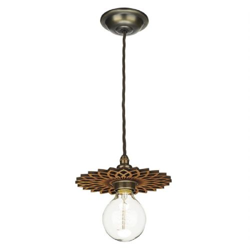 David Hunt Lighting, Pegasus Easy Fit Wooden Pendant Small, PEG6543 (Hand made, 7-10 day Delivery)